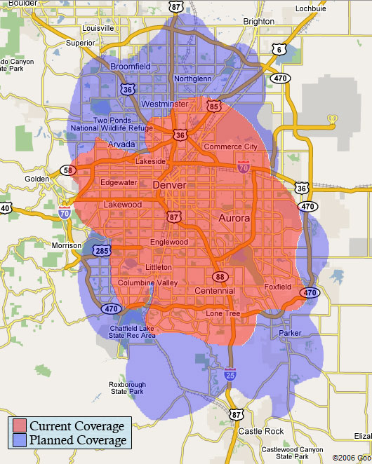 Y-net Wireless Coverage Map